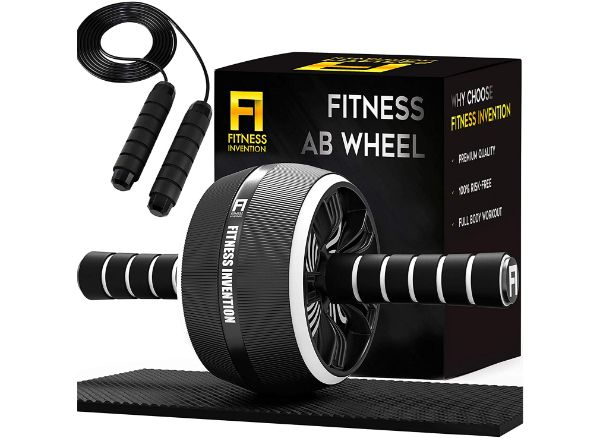 Fitness Invention 3-in-1 Ab Roller Wheel