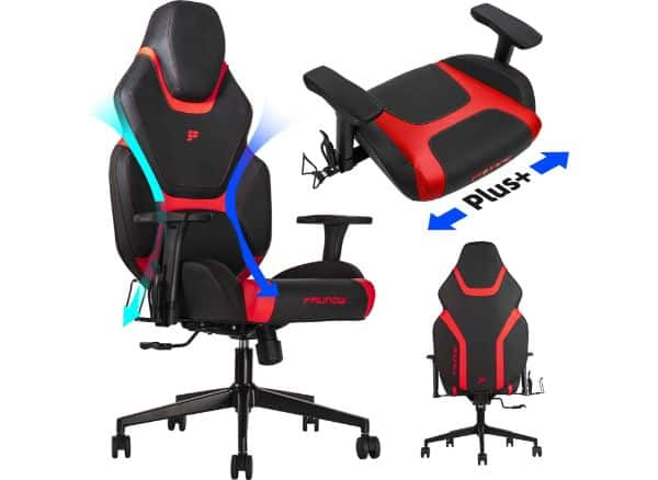 FAUNOW Gaming Chair with Massage