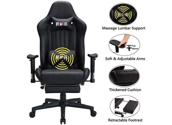 Remaxe Gaming Chair with Massage