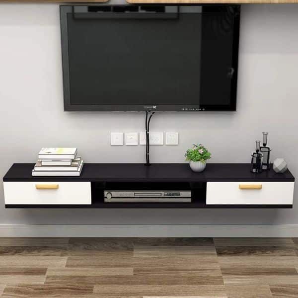 TriGold Wall Media Console Shelf Floating TV stand