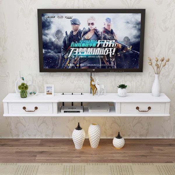 TriGold Wall Mounted Media Console Floating TV Stand