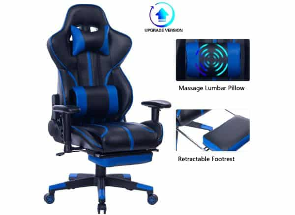Blue Whale Gaming Chair with Massage