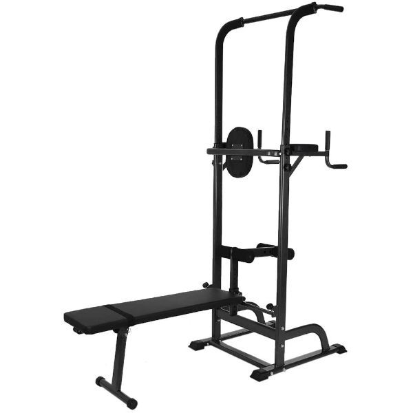 Homlpope Workout Dip Station Sit up Bench