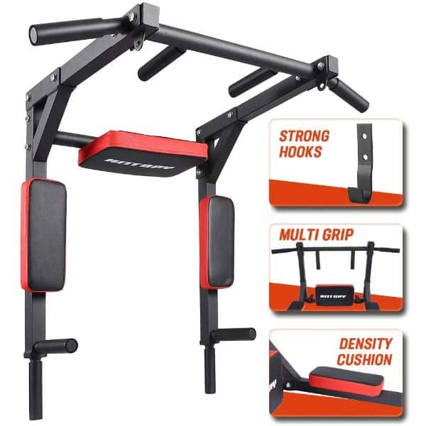 ANTOPY Wall Mounted Pull Up Bar Chin up Dip Stand