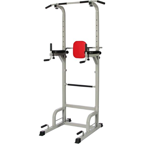 Everyday Essentials Power Tower with Push-up, Pull-up, and Workout Dip