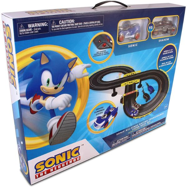 NKOK Sonic & Shadow RC Slot Car Track Set