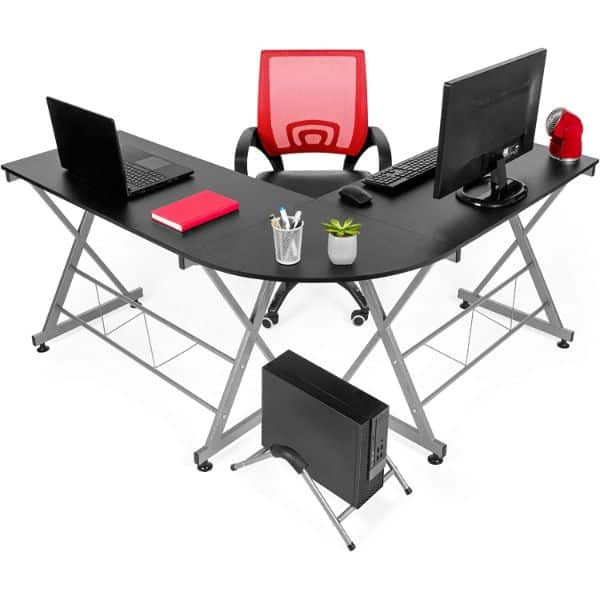 Best Choice Products L-Shaped Gaming Desk