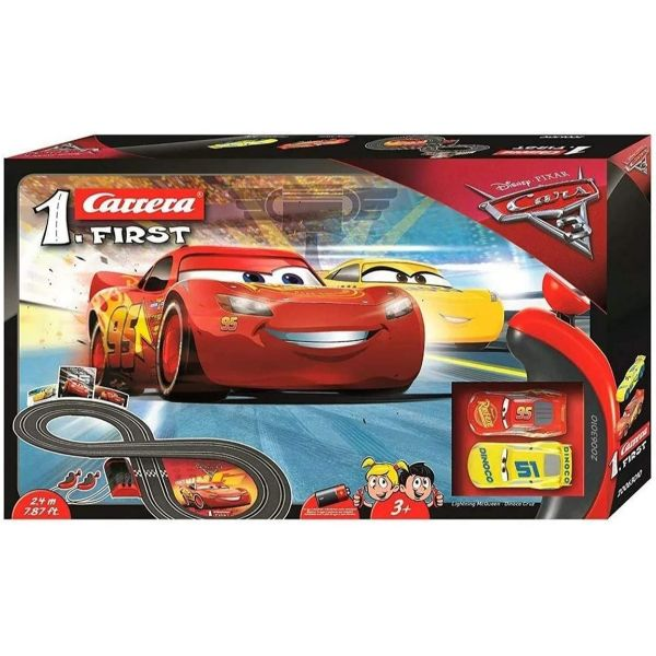 Carrera First Disney Cars 3 Slot Car Track Set