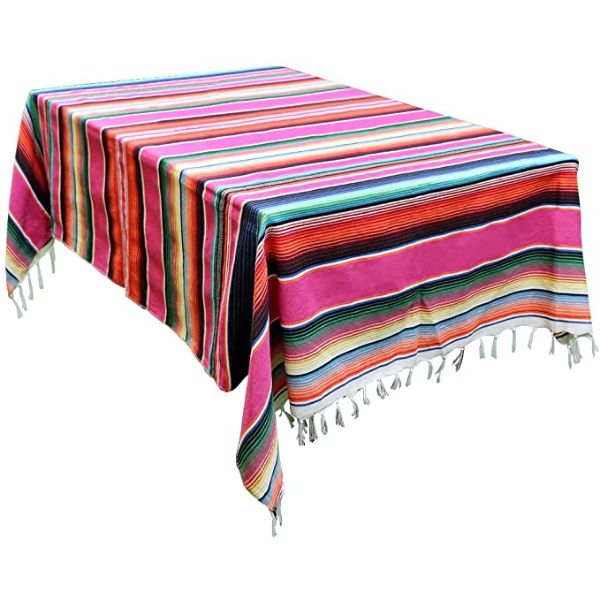 OurWarm Stripe Mexican Blanket