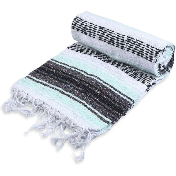 ANDREW JAMES Seafoam Mexican Blankets