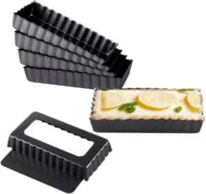 Quiche Pans with Removable Bottom