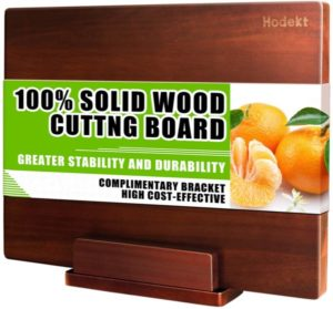 Wood Cutting Board with Stand