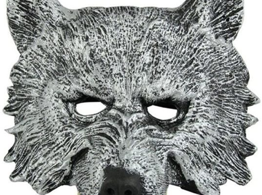 Hermine Gray Wolf's Head Mask for Halloween
