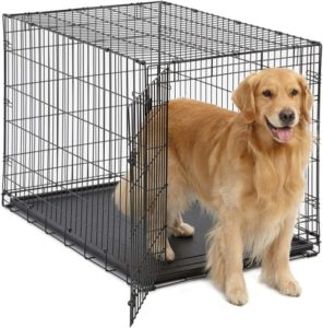 MidWest Homes for Pets Dog Crate | iCrate Folding Metal Dog Crate