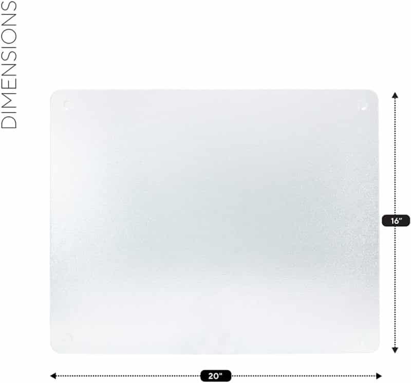 Surface Saver Vance 20 X 16 inch Clear Tempered Glass Cutting Boards