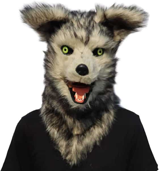Ifkoo Mouth Mover Werewolf Mask for Halloween