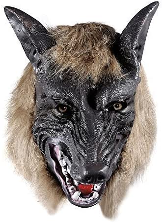 ONEDONE Wolf Head Mask for Halloween & Cosplay Costume Party