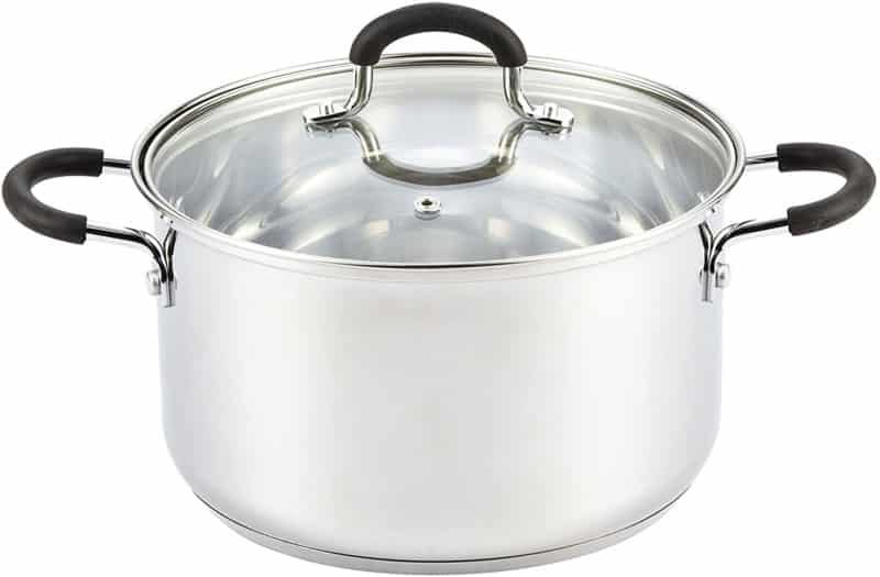 Cook N Home 5 Quart Stainless Steel Lid Stockpot saucier