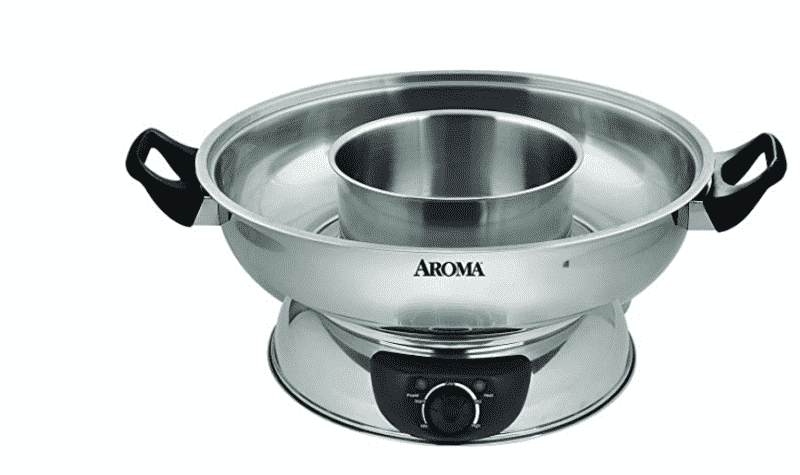 Aroma Stainless Steel Hot Pots, Silver (ASP-600)