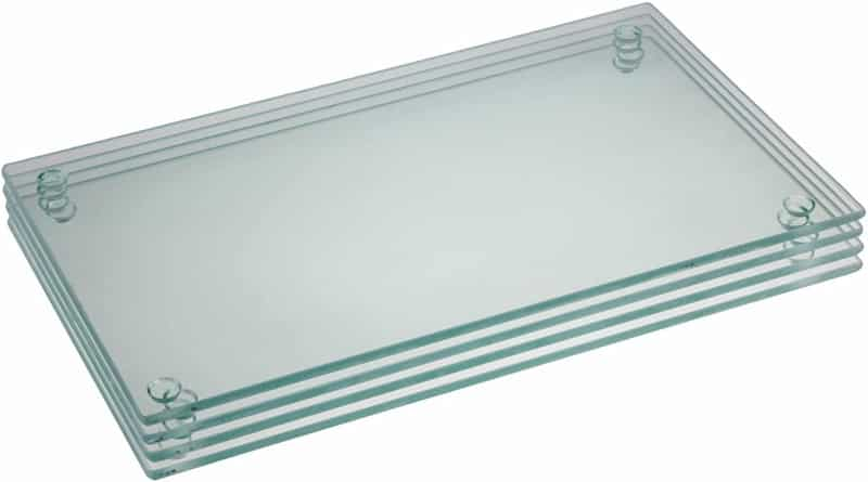 9.75 x 6-inch Rectangle Glass Cutting Board Bundle by Clever Chef