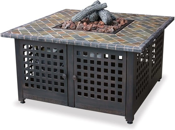 Endless Summer, LP Gas Outdoor Fire Bowl with Slate/ Marble Mantel