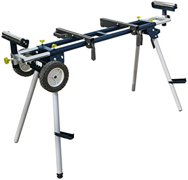 Portable Miter Saw Stand with Wheels and Power Outlets