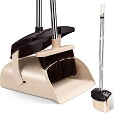Mosuch Extendable Handle Broom and Dustpan Set